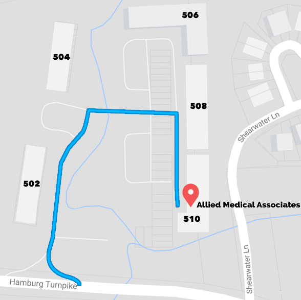 Allied Medical Associates Directions Map